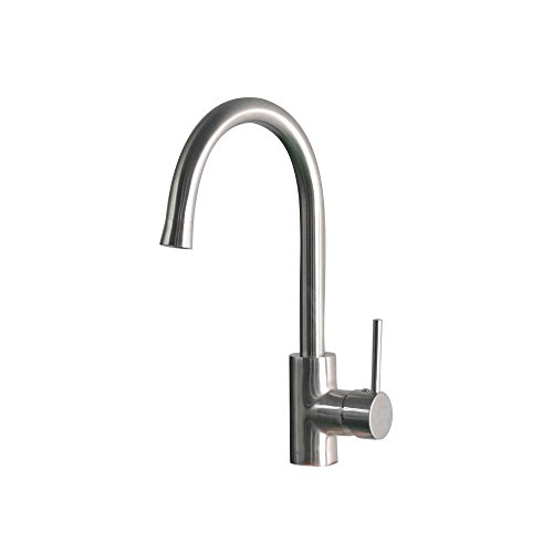 Belle Foret Single Hole - Belle Foret SS-WHLX78572 Mono Block Single-Handle Bar Faucet in Stainless Steel