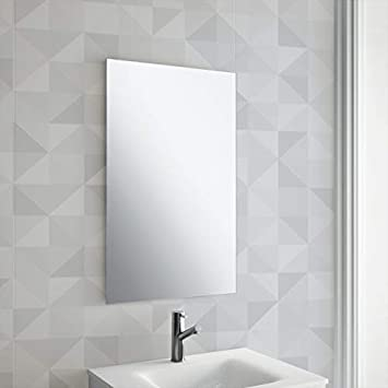 Buy Venetian Design Rectangular Frameless Decorative Wall Mirror Bathroom Mirror Wash Basin Mirror 4mm Double Coated Float Mirror 28 X 22 Inches Online At Low Prices In India Amazon In