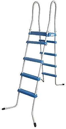 Well2wellness Escalerilla para Piscina Piscina Escalera 4-velocidad con Plataforma para Aufstellbecken 195/135 cm (020219): Amazon.es: Deportes y aire libre