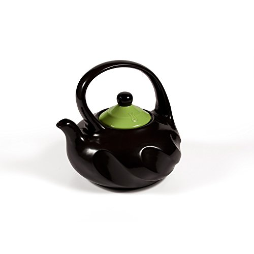 Xtrema 2.5 Qt 100% Ceramic Swirl Teapot with Colored Cover (Apple Green) (Ceramic Cookware Xtrema compare prices)