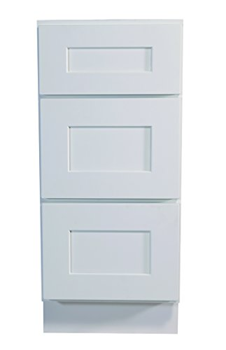 (Design House 561464 Brookings 18-Inch Drawer Base Cabinet, White Shaker)