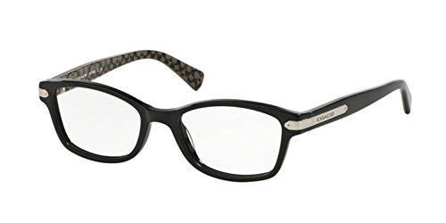 Coach Women's HC6065 Eyeglasses Black/Black Military Sig C ()