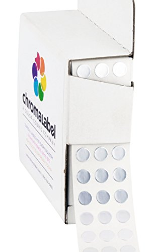 "1/4"" Metallic Silver, Color-Coding Dot Stickers 