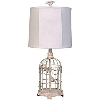 Nova Lighting Bird's Nest Heart Table Lamp, Silver - - Amazon.com