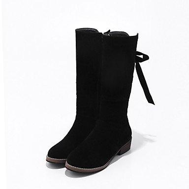Comfort Boots RTRY EU35 Inverno Casual Up Autunno CN34 Tessuto Stivali Mandorle Piatto Tacco Rosso Calf US5 Lace Per Scarpe UK3 Nero Mid Donna RxqCqwnXP