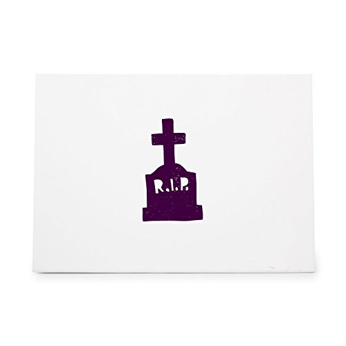 Halloween Tombstone Rest In Peace 1582 Rubber Stamp Shape great for Scrapbooking, Crafts, Card Making, Ink Stamping Crafts]()