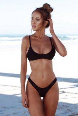 puro set sexy TIANLU S nero Costume da da tessuto bikini Beachwear bagno dimagrante colore bagno costume TaTxP4n