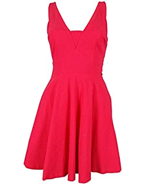 Guess Women's Sleeveless V-Back Dress