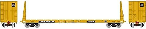 Athearn ATH87726 HO RTR 60' Bulkhead Flat, TTX #804791 - Athearn Ho Brake