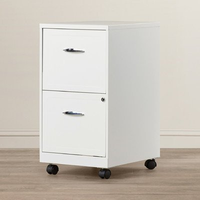 ZipcodeTM Design Gigi 2 Drawer Mobile File Cabinet by ZipcodeTM Design