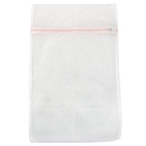 DealMuxナイロンメッシュジッパー開閉家庭用服洗濯ランドリーバッグホワイト B072SJBXZC