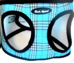 Plaid Mesh Step-in Harness (aqua, medium), My Pet Supplies