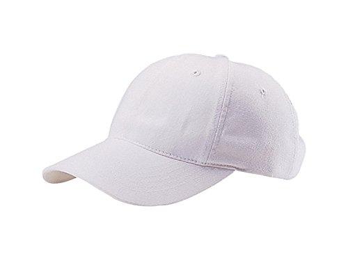 TOP HEADWEAR Low Profile Brush Cotton Twill Cap - (White Brush Cotton Hat)