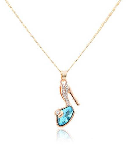 Eyekepper Swarovski Austrian crystals Cinderella Slipper Necklace