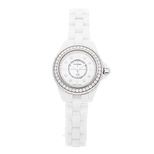 Chanel J12 Quartz (Battery) Mother-of-Pearl Dial Womens Watch H2572 (Certified Pre-Owned)