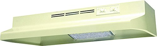 Air King AD1365 Advantage Ductless Under Cabinet Range Hood with 2-Speed Blower, 36-Inch Wide, Almond Finish ()