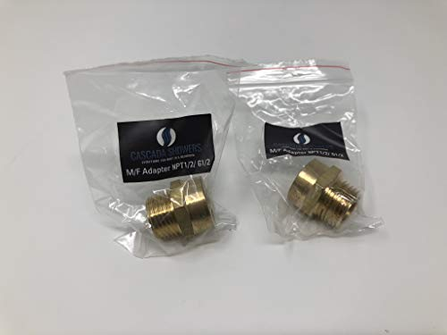 G Thread (Metric BSP) Female to NPT Thread Male Pipe Fitting Adapter - Lead-Free (Two 1/2 inch)