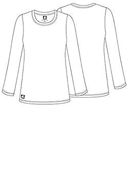 Adar Womens Comfort Long Sleeve T-shirt Underscrub Tee - 2900 - Aqm - S 5