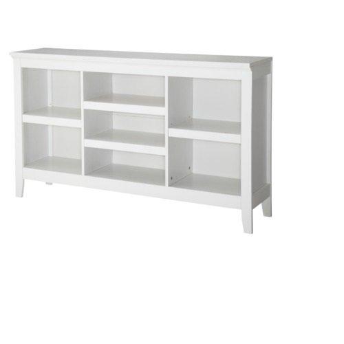 Threshold Carson Horizontal Bookcase, White Finish