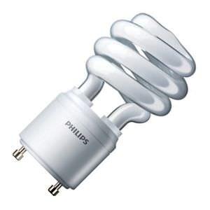 Fluorescent Gu24 Base Lamp - Philips Lighting 454199 EL/mdTQS Energy Saver Compact Fluorescent Lamp 13 Watt GU24 Base 1250 Lumens 80 CRI 2700K Warm White