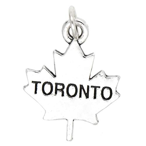 Sterling Silver Toronto Charm Jewelry Making Supply Pendant Bracelet DIY Crafting by Wholesale -