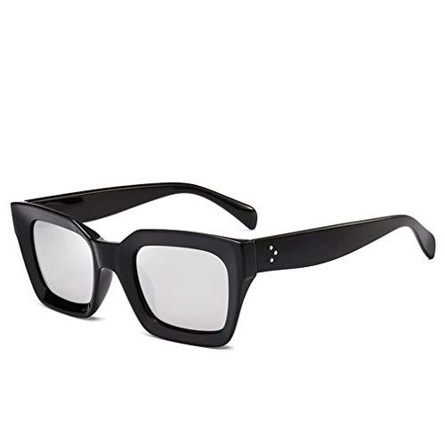 Súper Ligero Cuadrados C4 de Hombre Gafas de Unisex Sol Lente Gafas Gafas Mujer Polarizadas Vintage UV400 Espejo Retro Fliegend Sol x8Hq1U8T