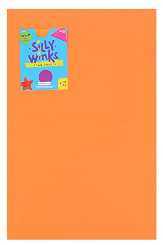 6170a4e9c4 Amazon.com: Silly Winks, Primary Foam Sheet Pack, 12 x 18 inches, Assorted  Colors, 12 Count: Arts, Crafts & Sewing