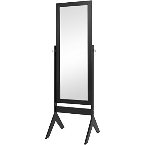 Floor Mirror Bedroom Home Furniture- Black (Stage Makeup Melbourne)