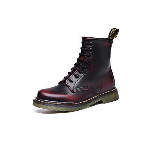 Red Wind UK6 Boots Coreana Size Boots Estudiantes Mujer CN40 Martin Color de para EU39 Wild 5 Zapatos versión Single Wine FH British Boots qRITwT