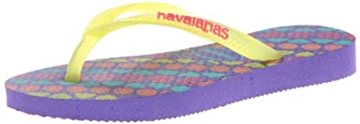 Amazon.com | Havaianas Slim Trend Flip Flop (Toddler/Little Kid), Ice