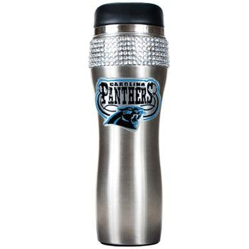 NFL Carolina Panthers 16-Ounce Stainless Steel Bling Tumbler