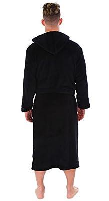 Personalized Embroidered Unisex Luxurious Plush Fleece Hooded Kimono Bathrobe