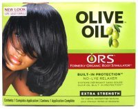 Organic Root Stimulator Olive Oil No Lye Relaxer Kit, Extra Strength (Pack of 3) ()