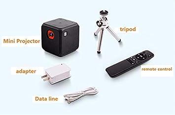 ZHZR Cubo Mini Proyector DLP proyector portátil Android Sistema de ...