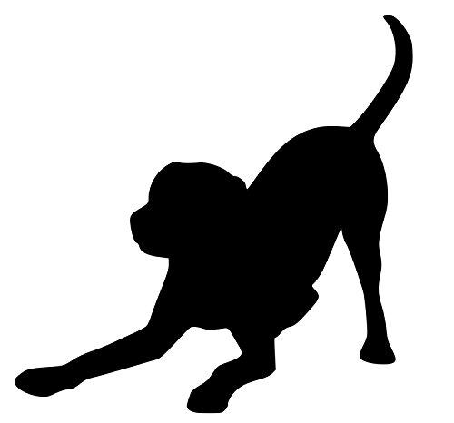 Sticker Lab Black (Minglewood Trading Labrador Retriever - BLACK Vinyl Decal Sticker - Dog Yellow Black Lab 4.5