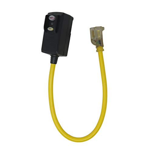 (Yellow Jacket 2877 120V/15A Right Angle GFCI 12/3 SJTW 2' Cord Set with Lighted Receptacle)