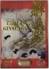 Corea Ginseng X 4000 Natural Male Herbal Product 24 Packs of 1 Capsule in Each Pack by Corea Ginseng