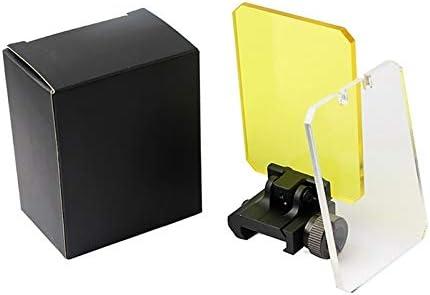 NO LOGO L-Yune, La Caza de Airsoft de 20 mm de protección Deflector protección de la Lente del Ojo Rectangular Escudos sombreado holográfica Vista telescópica len (Color : MP0747A)