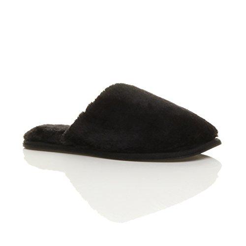 Ajvani - Zapatillas de estar por casa de Material Sintético para mujer negro