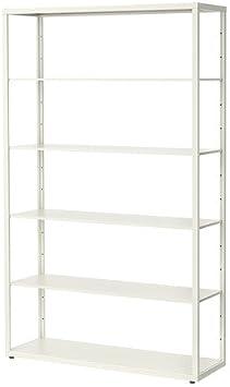Ikea FJALKINGE – estantería, Blanco – 118 x 193 cm: Amazon.es ...