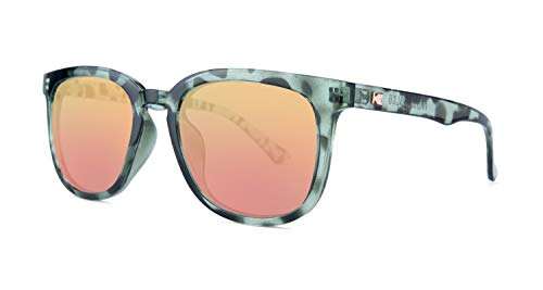 - Knockaround Paso Robles Polarized Sunglasses With Grey Tortoise Shell Frames/Rose Gold Reflective Lenses