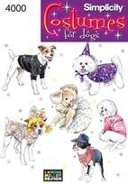 SIMPLICITY PATTERN 4000 DOG COATS AND COSTUMES ONE SIZE]()