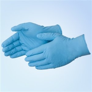 8 mil Blue Nitrile Food Gloves, PF, MD, 500/case by Duraskin