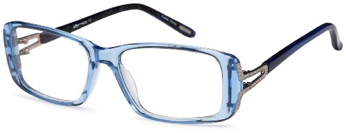Womens Square Glasses Frames Blue Prescription Eyeglasses Rxable 53-16-135 (Frames Blue)