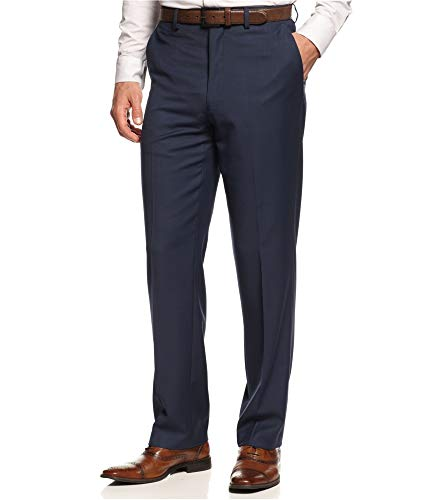 Michael Michael Kors Mens Twill Flat Front Dress Pants Blue 38/30