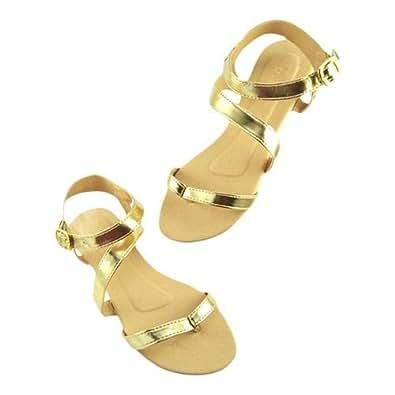 D'Crush Gold Flat Sandal For Women