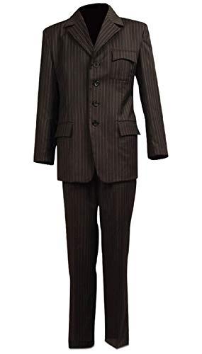 Wolfbar 10th Dr Brown Pinstripe Blazer Pants Set Halloween Cosplay Costume Male M]()