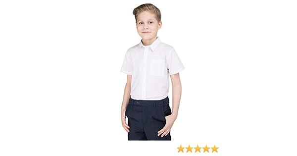 Edades 3-16 – Camisa escolar de polialgodón, color blanco Blanco Corte regular. 5 Años: Amazon.es: Ropa y accesorios