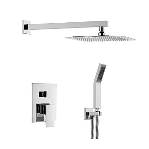 YHNUJMIK Shower Set Concealed 8 inch Water-Saving Shower into The Wall Shower Shower Set