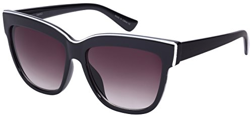 Edge I-Wear Retro Inspired Two Tone Cat Eye Sunglasses w/Gradient Lens - Sunglasses W Eye